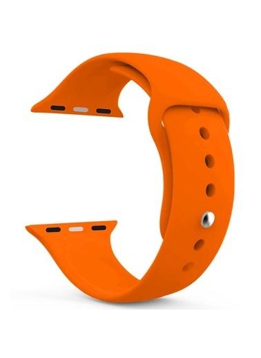 Microsonic Apple Watch SE 40mm Silikon Kordon Oranj